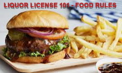 Food requirements liquor license