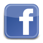 blue and white facebook logo