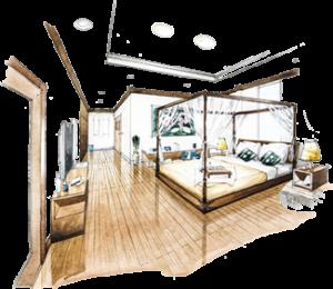 Interior Design Sketch Encore Consign Design Studio