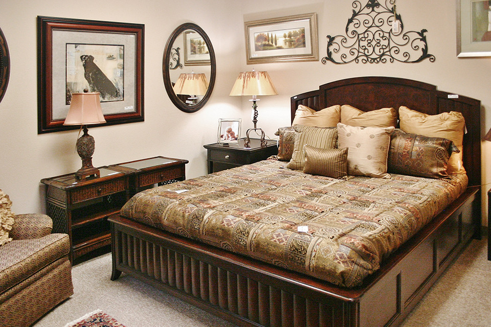 Beds Dark Wood Platform Bed
