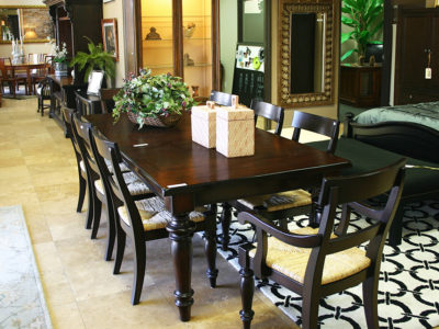 Dark Wood Rectangle Dining Table That Seats 8