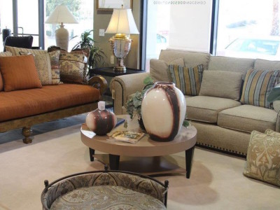 Living Room Furniture Surrounding a Coffee Table