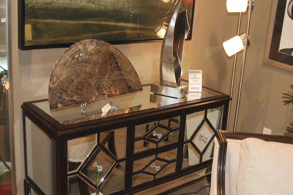 Ornate Mirrored Side Table