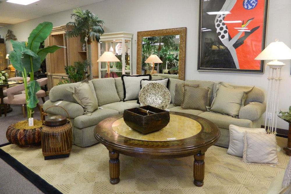 Sectional Surrounding a Coffee Table