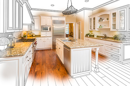 Sketch of Kitchen Becoming a Real Life Kitchen