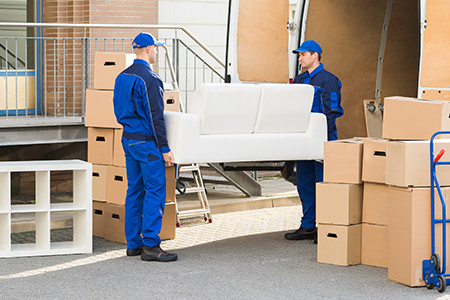 Furniture Stores Shipping Couch To Client