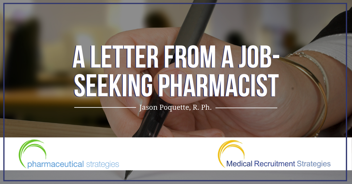 A Letter from a Job-Seeking Pharmacist