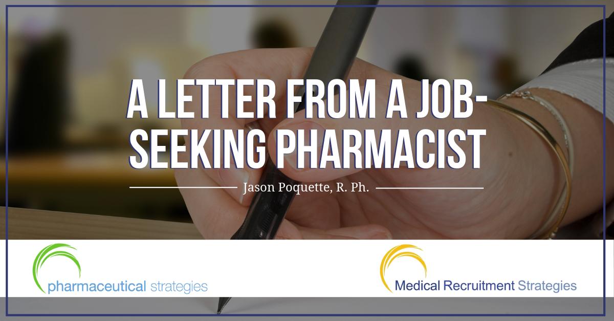 A Letter from a Job-Seeking Pharmacist