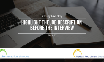 Quick Tips: Highlight the Job Description before the Interview