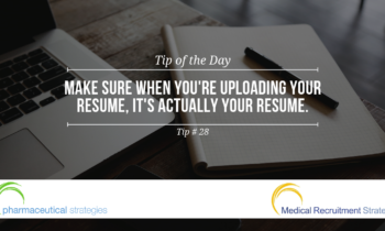 Quick Tips: Make Sure Your Resume Upload is Your Resume