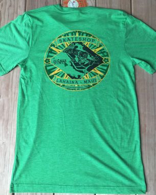Lahaina-Skate-Shop-T-Shirt-green