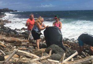 beach-clean-up-maui-west-side