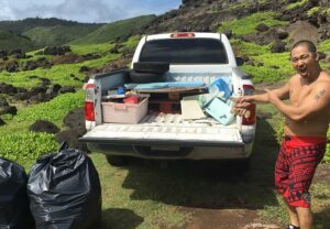 beach-clean-up-truck-loads-of-garbage