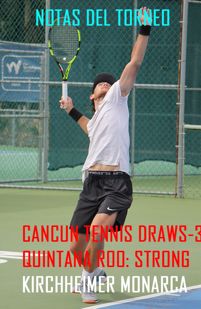 CANCUN TENNIS DRAWS-3- QUINTANA ROO: STRONG KIRCHHEIMER MONARCA