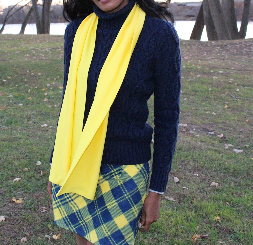 That yellow scarf