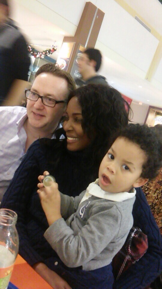 Hubby and I with Merab's little one - Young Myles