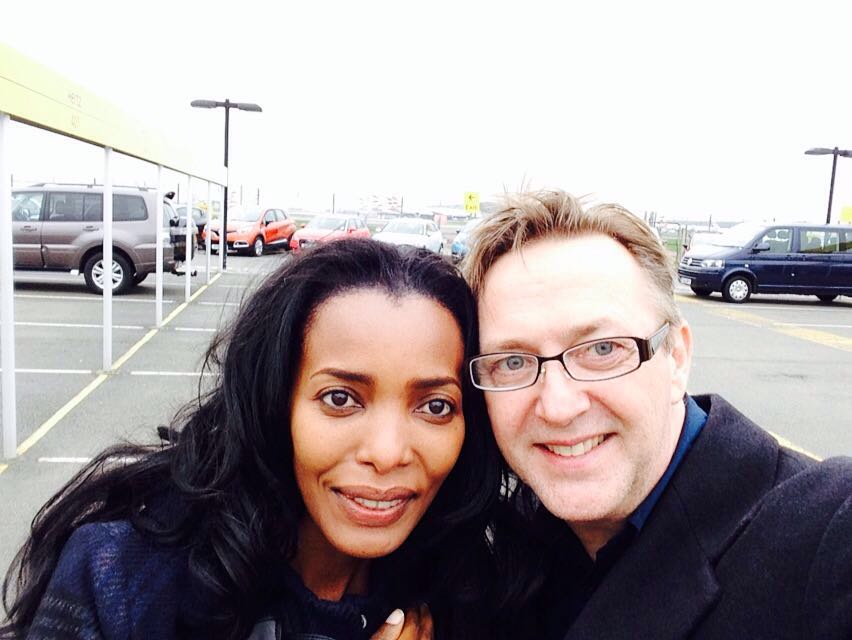 Hubby & I at the airport car hire