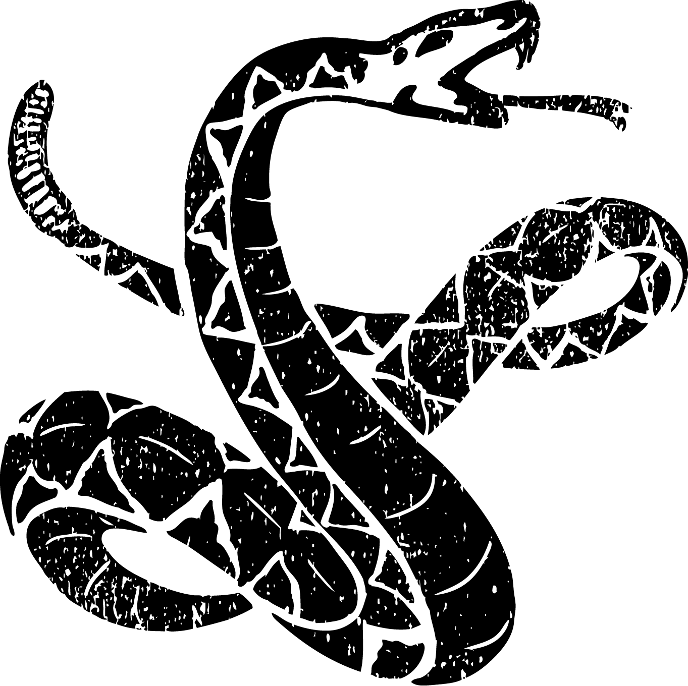 Snake logo with rattle and tongue