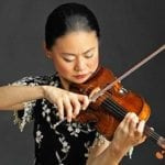 Violinist for san Diego Symphony playing violin