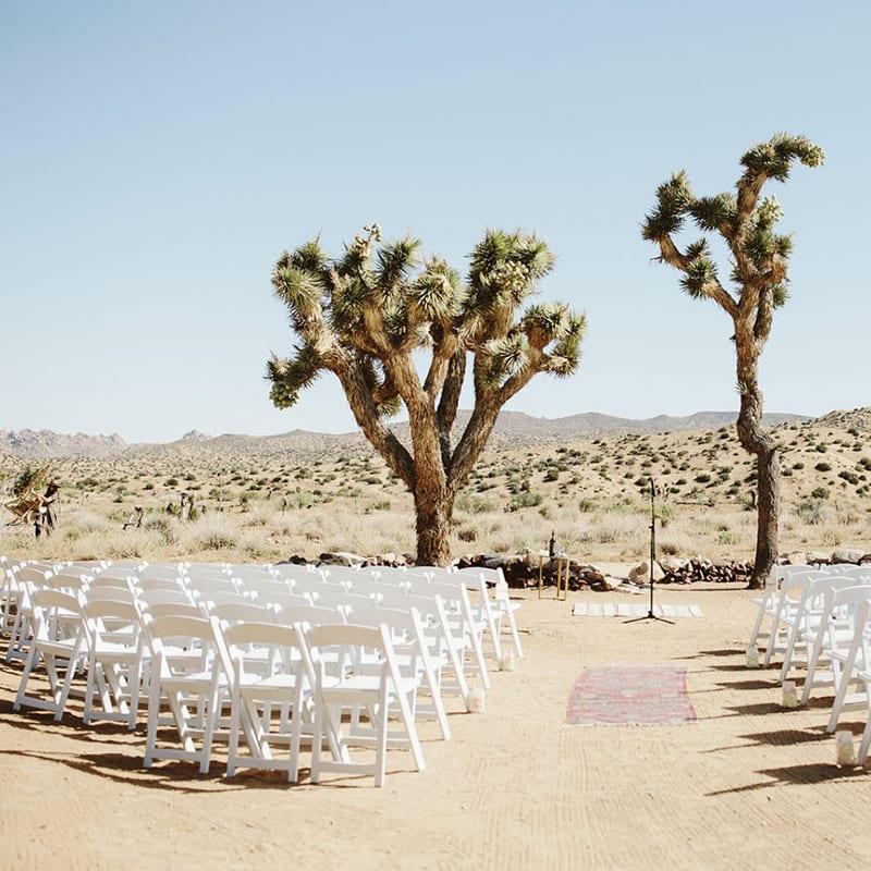 Desert outdoor event space