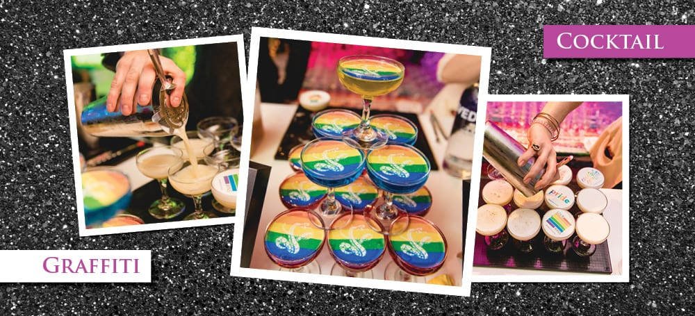 snake oil celebrates pride with cocktail graffiti - the special event 2019 | snake oil cocktail co