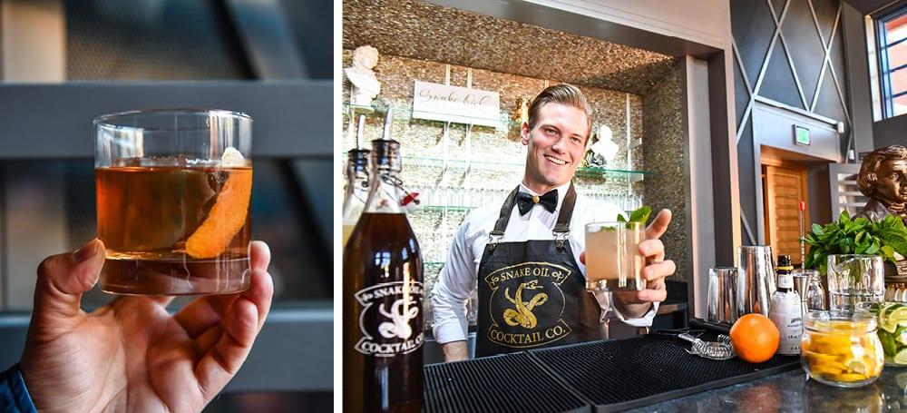 culinary concepts at the conrad la jolla music society | snake oil cocktail co.