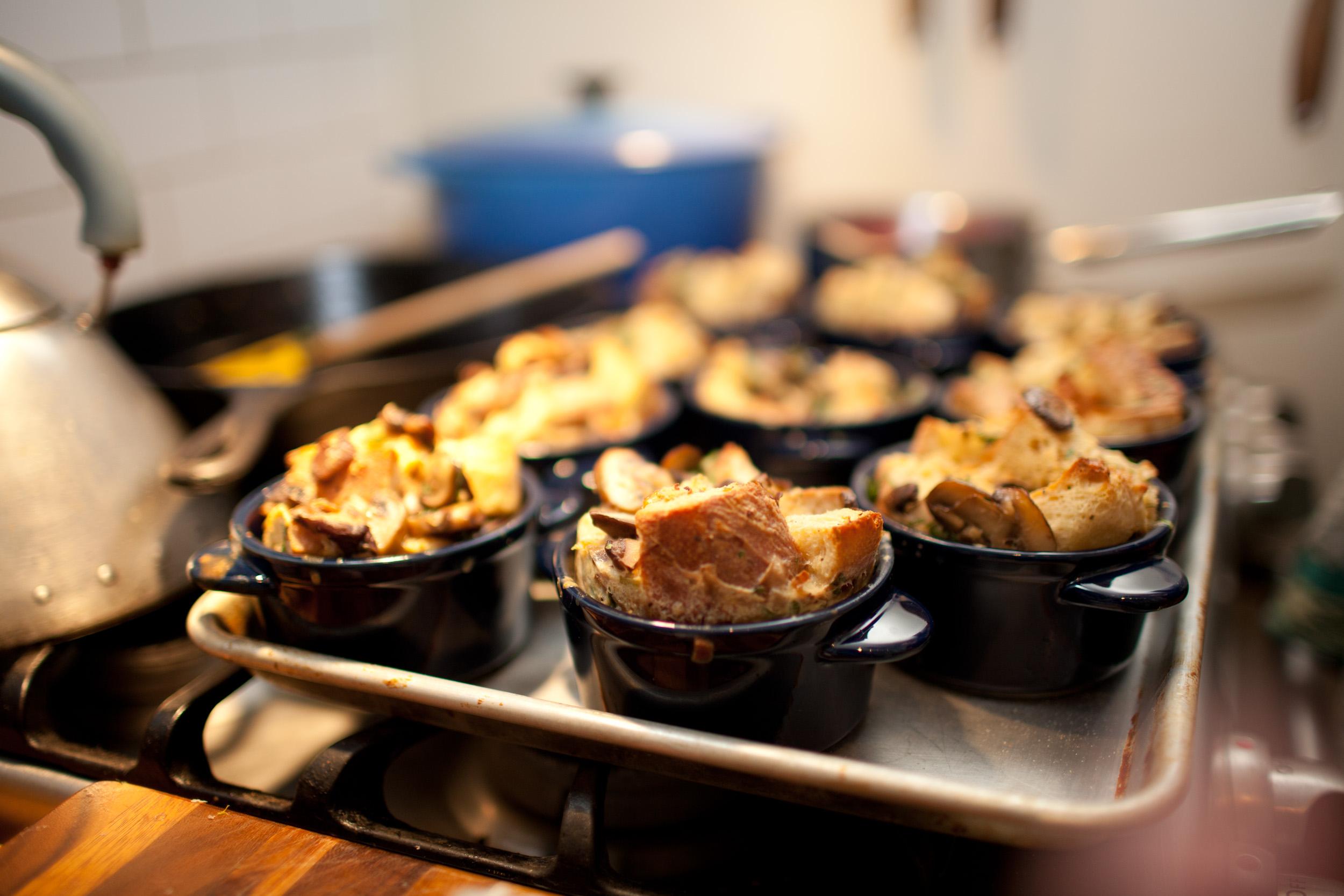 Savory Mushroom Bread Pudding