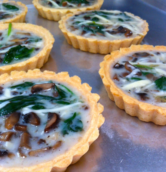 Egg White, Spinach, Mushroom and Gruyère Quiche