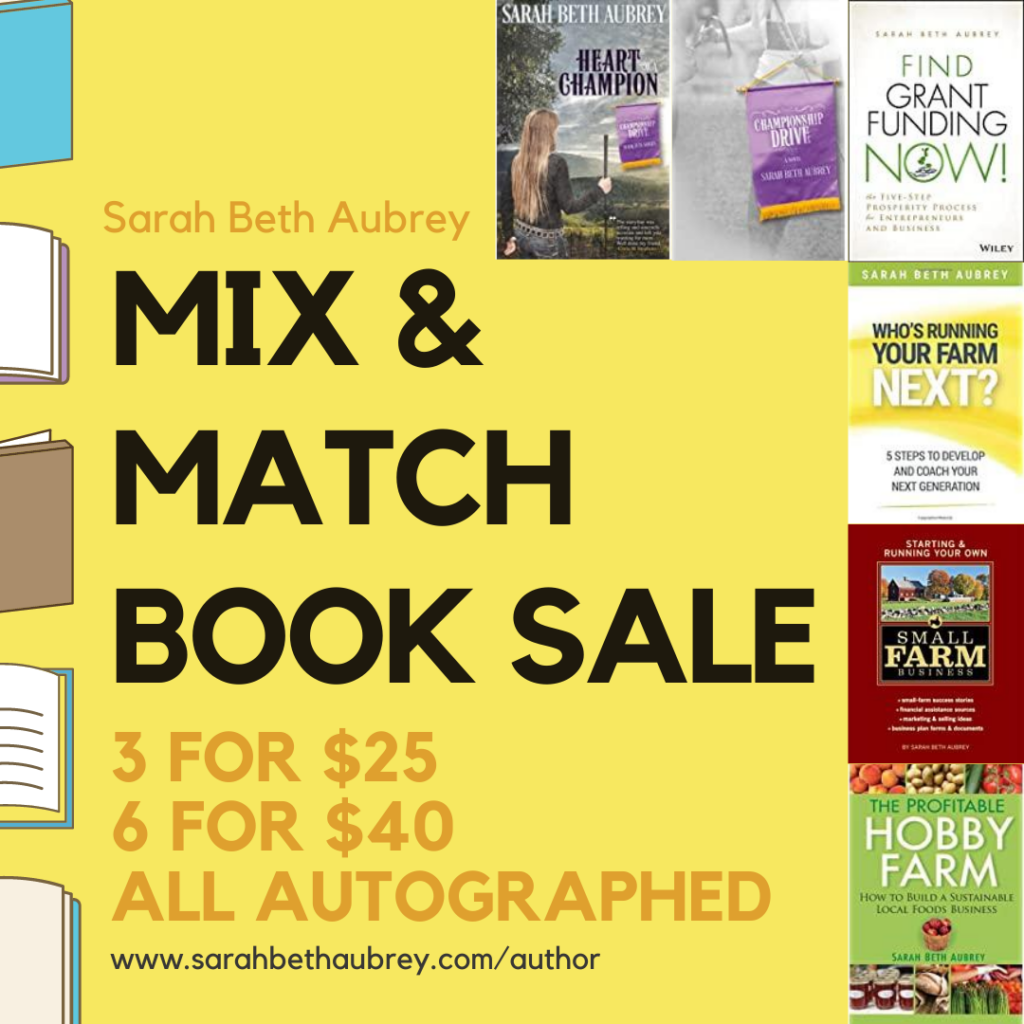 Mix & Match Book Sale: 3 for $25, 6 for $40, All autographed
