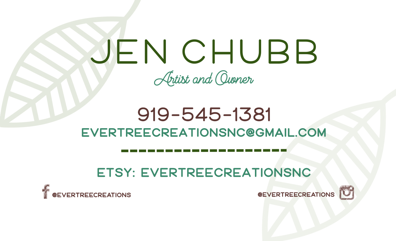 Ever Tree Creations Business Card