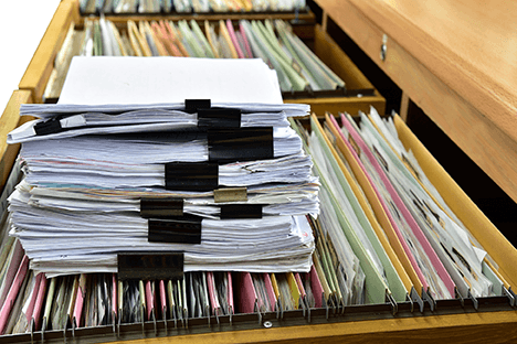 Photo of financial documents