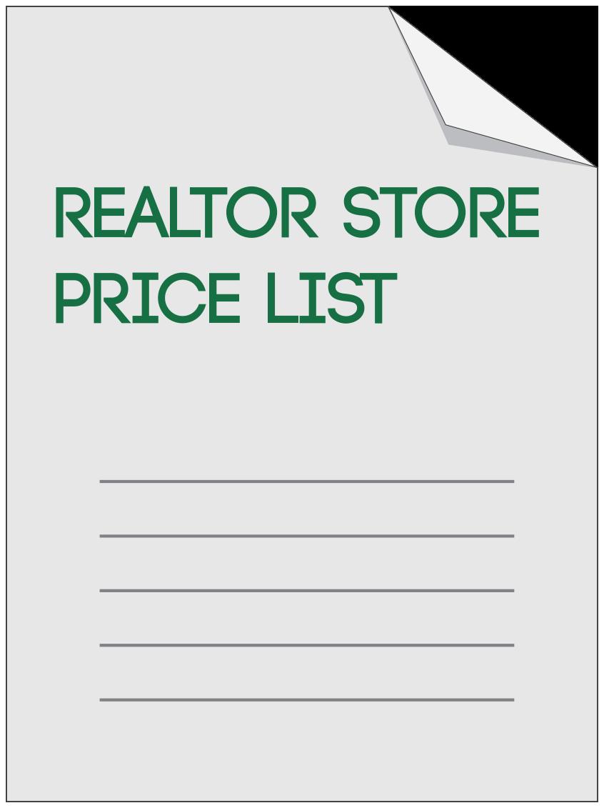 Realtor Store Price List