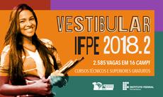 IFPE lança Vestibular 2018.2