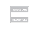 Interstate Resources logo, grey