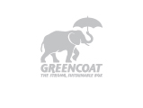 Greencoat Elephant and Umbrella Logo, grey