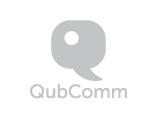 QubComm Logo, grey