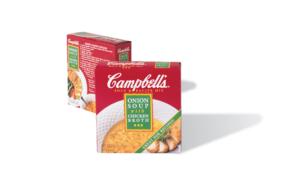 Campbell's Soup, Soup & Recipe Mix, packaging front and back