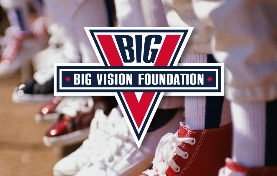 BIG Vision Foundation Logo, with youth baseball