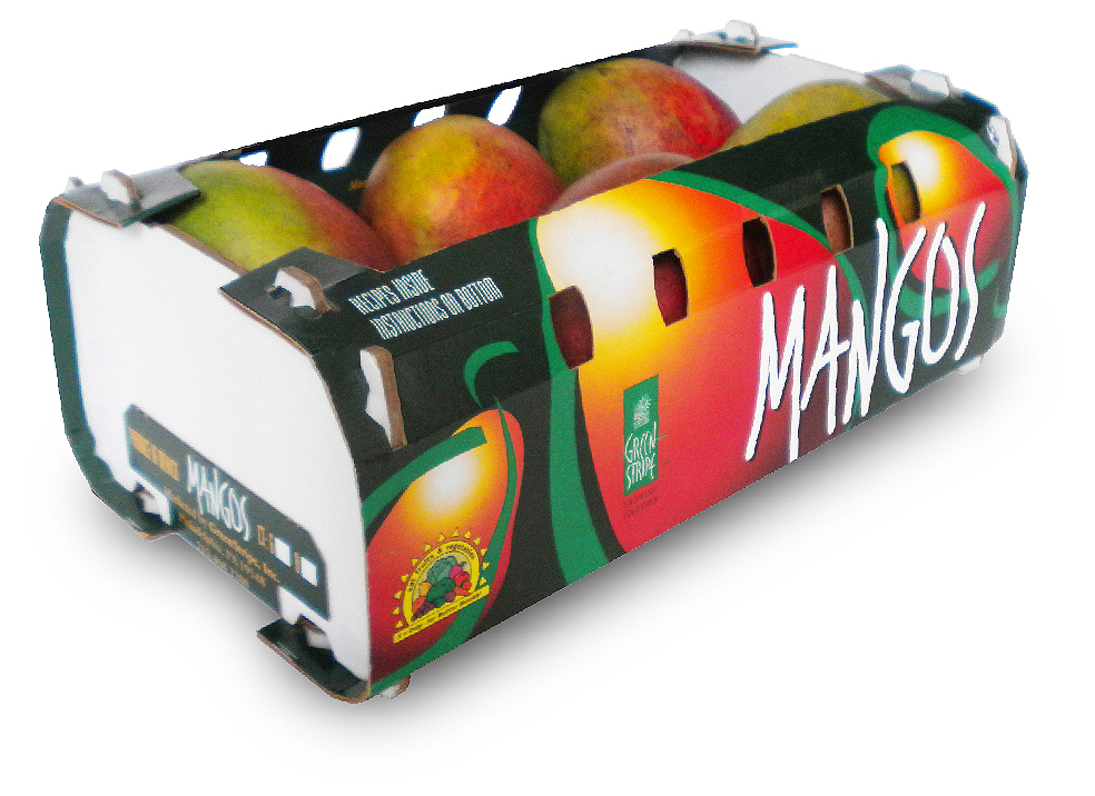 Mango Box, GreenStripe, Produce Packaging with Rich, Vibrant Colors