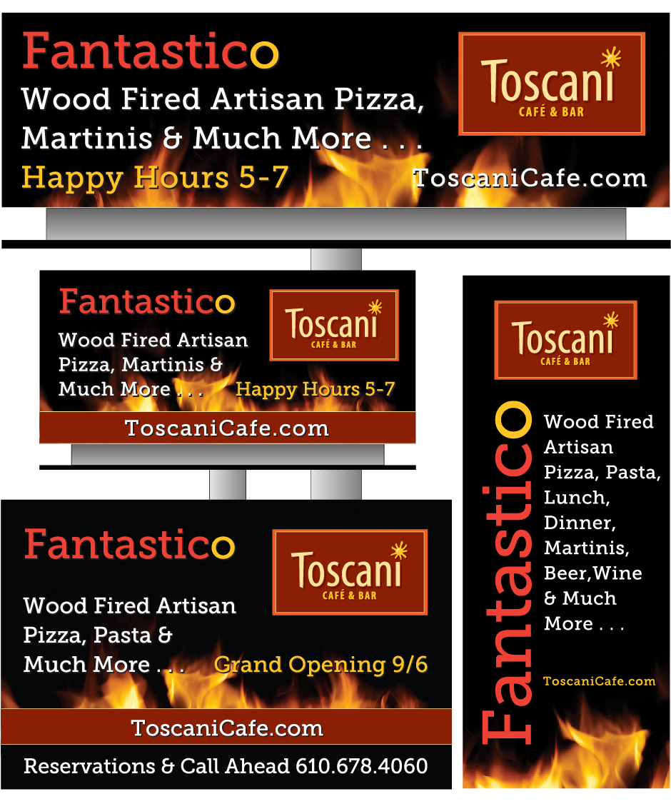 Toscani Table Cards and Billboards