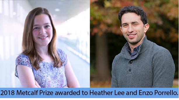 2018 Metcalf Prize winners are using stem cells to understand cancer resistance and how to heal hearts