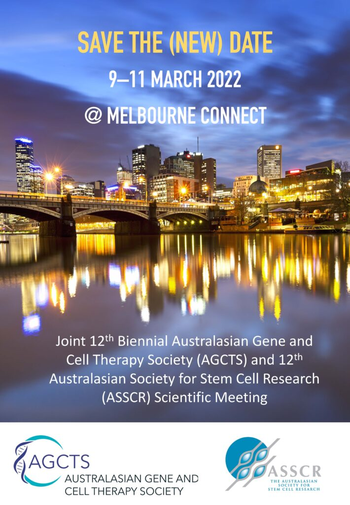 New MARCH 2022 date for national ASSCR meeting