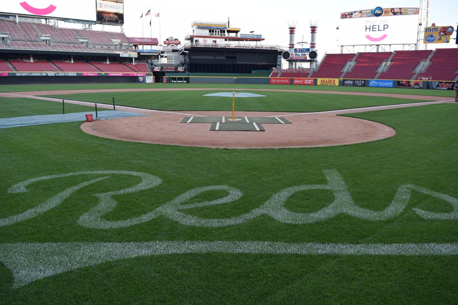 Great American Ballpark from the field at May We Help Leadership Gala 2016
