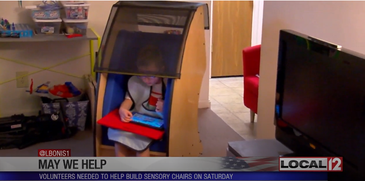 Nonprofit that builds special chairs to help those on autism spectrum needs volunteers
