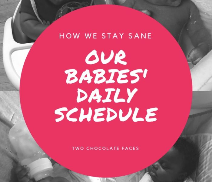 Our Babies' Daily Schedule (How We Stay Sane)