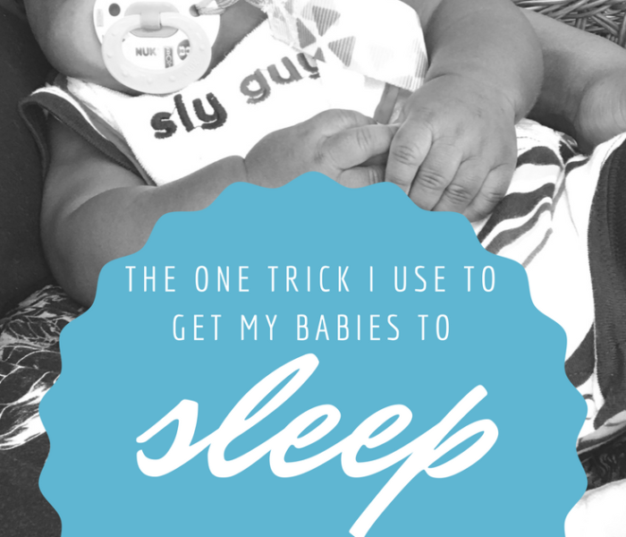 The One Trick I Use To Get My Babies to Sleep in 5 Minutes or Less