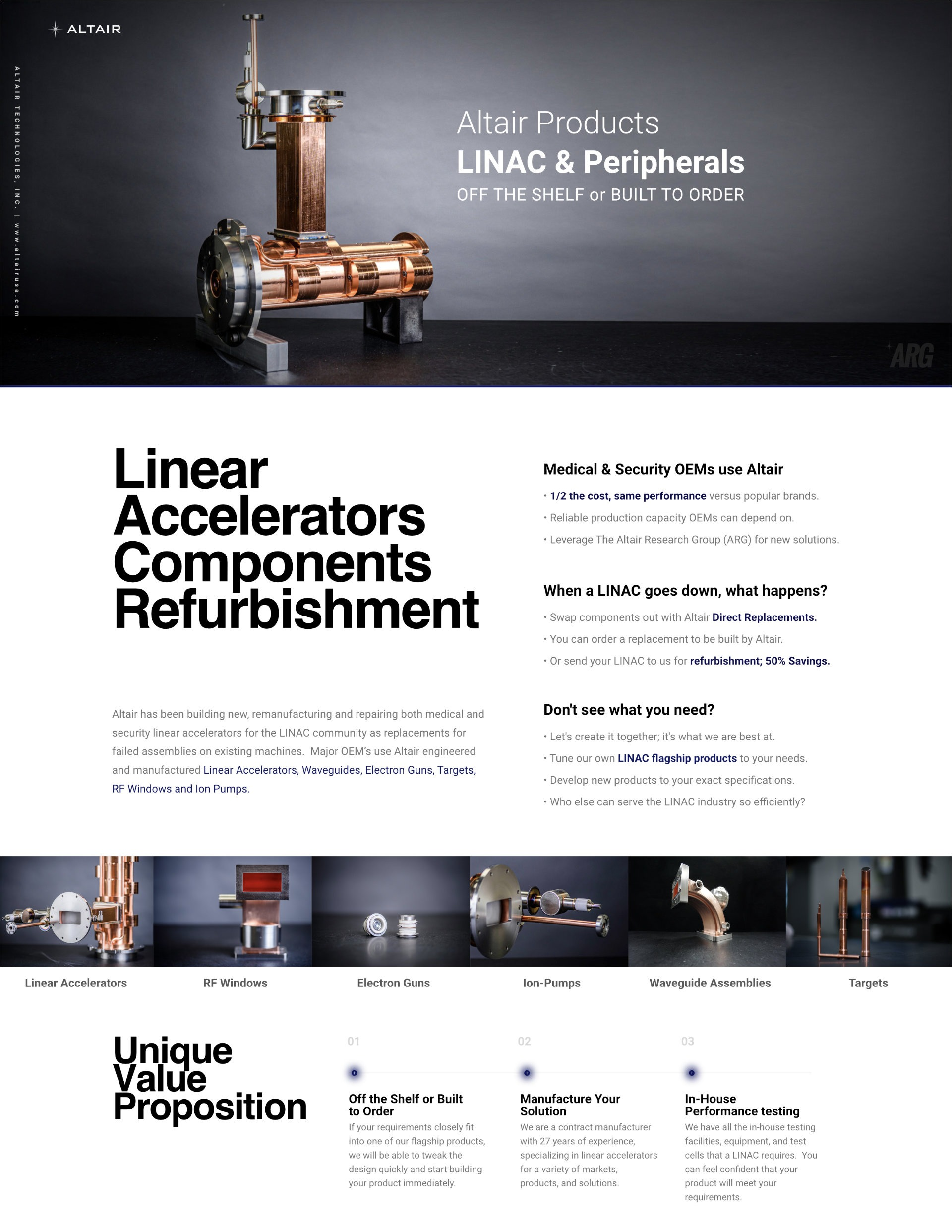 Company LINAC focused Line Card Front
