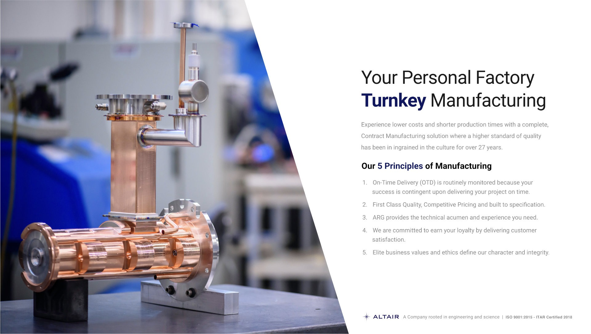 Turnkey Services Line Card Front