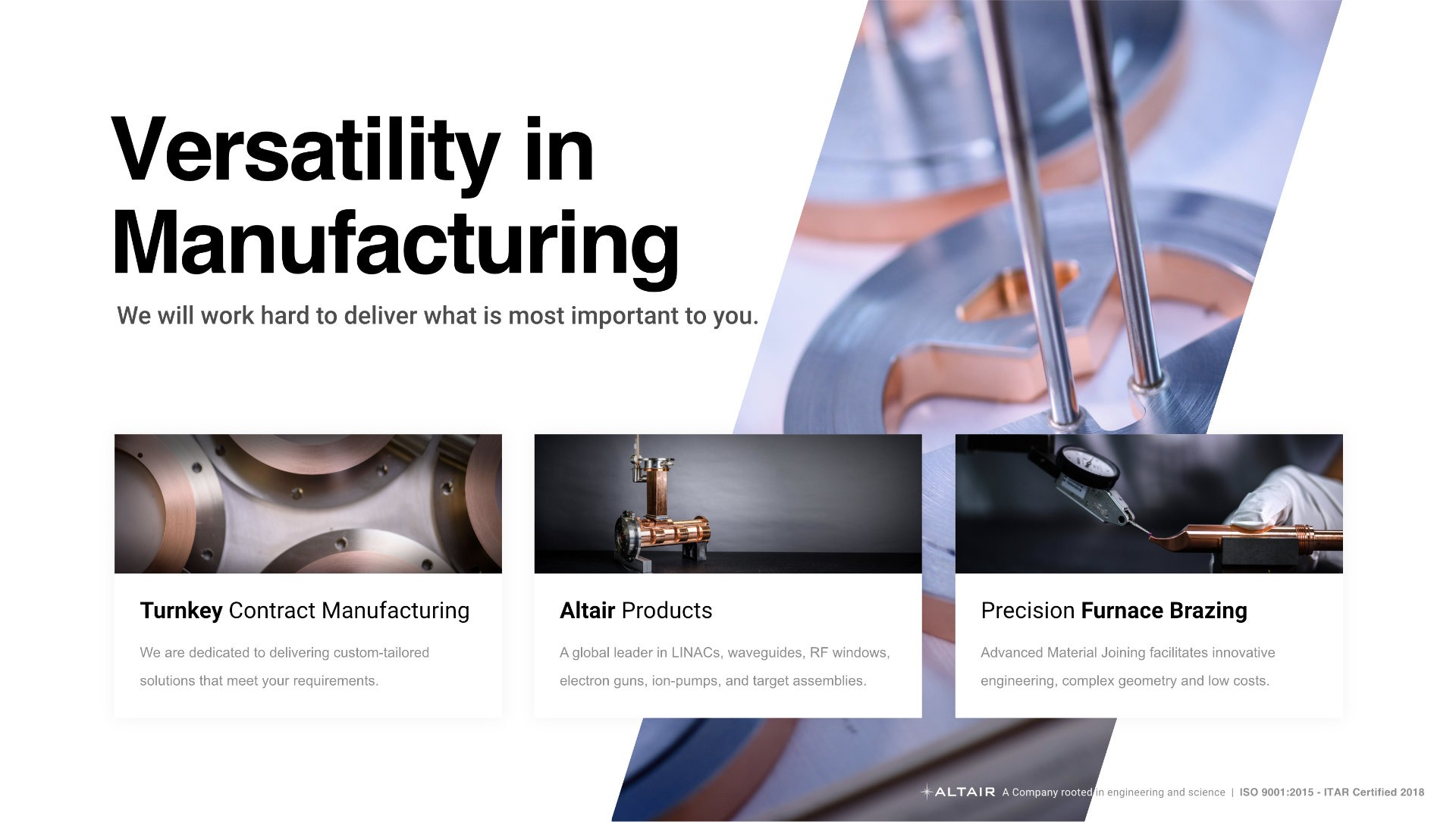 Contract Manufacturing Line Card Front