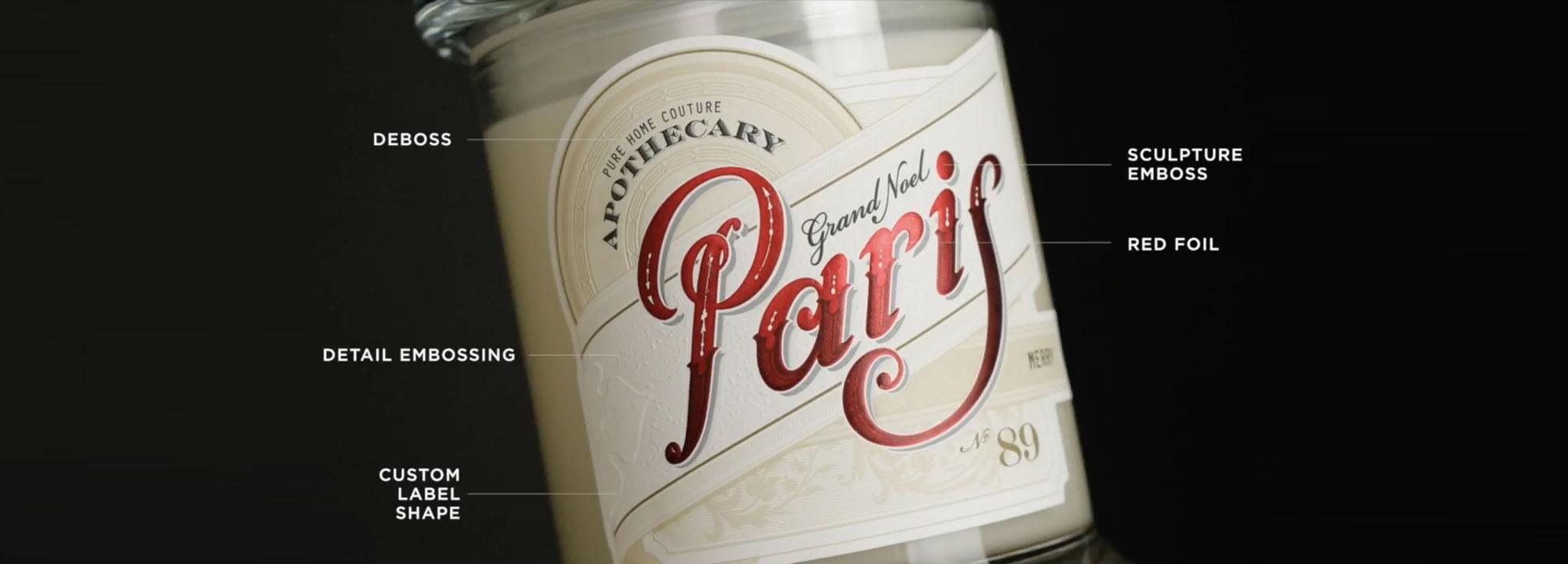 Paris Candle Label